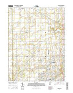 Westfield Indiana Current topographic map, 1:24000 scale, 7.5 X 7.5 Minute, Year 2016 from Indiana Map Store