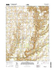 Westport Indiana Current topographic map, 1:24000 scale, 7.5 X 7.5 Minute, Year 2016 from Indiana Maps Store