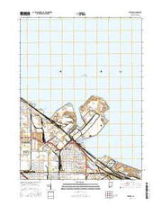 Whiting Indiana Current topographic map, 1:24000 scale, 7.5 X 7.5 Minute, Year 2016 from Indiana Maps Store