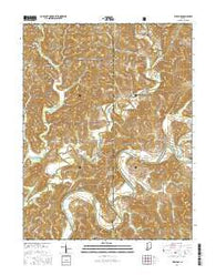 Williams Indiana Current topographic map, 1:24000 scale, 7.5 X 7.5 Minute, Year 2016