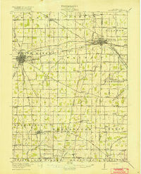 Winchester Indiana Historical topographic map, 1:62500 scale, 15 X 15 Minute, Year 1918