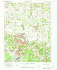 Winslow Indiana Historical topographic map, 1:24000 scale, 7.5 X 7.5 Minute, Year 1961
