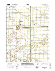 Woodburn South Indiana Current topographic map, 1:24000 scale, 7.5 X 7.5 Minute, Year 2016 from Indiana Maps Store