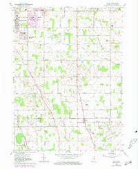 Wyatt Indiana Historical topographic map, 1:24000 scale, 7.5 X 7.5 Minute, Year 1961
