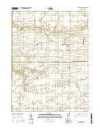 Young America Indiana Current topographic map, 1:24000 scale, 7.5 X 7.5 Minute, Year 2016 from Indiana Map Store
