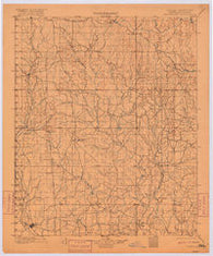 Addington Oklahoma Historical topographic map, 1:125000 scale, 30 X 30 Minute, Year 1901