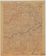 Canadian Oklahoma Historical topographic map, 1:125000 scale, 30 X 30 Minute, Year 1900