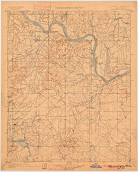Okmulgee Oklahoma Historical topographic map, 1:125000 scale, 30 X 30 Minute, Year 1900