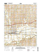 Abilene Kansas Current topographic map, 1:24000 scale, 7.5 X 7.5 Minute, Year 2015 from Kansas Map Store
