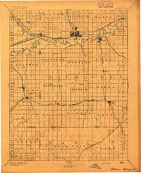 Abilene Kansas Historical topographic map, 1:125000 scale, 30 X 30 Minute, Year 1894