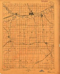 Abilene Kansas Historical topographic map, 1:125000 scale, 30 X 30 Minute, Year 1889