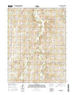 Abilene SW Kansas Current topographic map, 1:24000 scale, 7.5 X 7.5 Minute, Year 2015 from Kansas Map Store