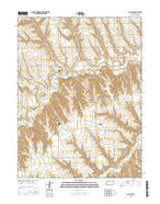 Achilles Kansas Current topographic map, 1:24000 scale, 7.5 X 7.5 Minute, Year 2015 from Kansas Map Store