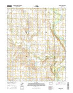 Adamsville Kansas Current topographic map, 1:24000 scale, 7.5 X 7.5 Minute, Year 2015 from Kansas Map Store