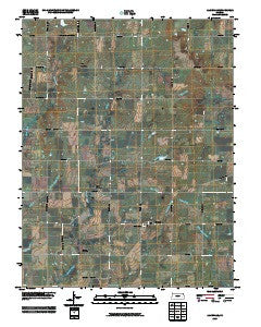 Aliceville Kansas Historical topographic map, 1:24000 scale, 7.5 X 7.5 Minute, Year 2009