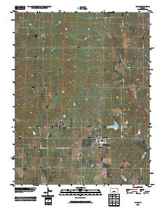 Allen Kansas Historical topographic map, 1:24000 scale, 7.5 X 7.5 Minute, Year 2009