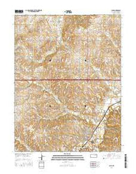 Alma Kansas Current topographic map, 1:24000 scale, 7.5 X 7.5 Minute, Year 2016