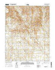 Ashland NW Kansas Current topographic map, 1:24000 scale, 7.5 X 7.5 Minute, Year 2016 from Kansas Maps Store