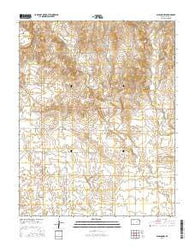 Ashland NW Kansas Current topographic map, 1:24000 scale, 7.5 X 7.5 Minute, Year 2016