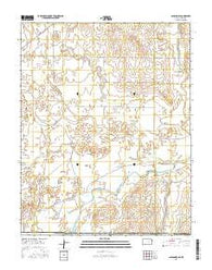 Ashland SE Kansas Current topographic map, 1:24000 scale, 7.5 X 7.5 Minute, Year 2016