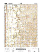 Assaria Kansas Current topographic map, 1:24000 scale, 7.5 X 7.5 Minute, Year 2015 from Kansas Map Store