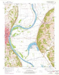 Atchison East Kansas Historical topographic map, 1:24000 scale, 7.5 X 7.5 Minute, Year 1960