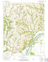 Atchison NE Kansas Historical topographic map, 1:24000 scale, 7.5 X 7.5 Minute, Year 1959