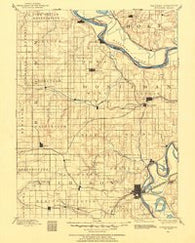 Atchison Kansas Historical topographic map, 1:125000 scale, 30 X 30 Minute, Year 1885
