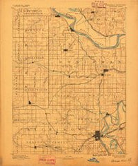 Atchison Kansas Historical topographic map, 1:125000 scale, 30 X 30 Minute, Year 1888