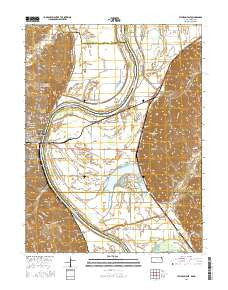 Atchison East Kansas Current topographic map, 1:24000 scale, 7.5 X 7.5 Minute, Year 2016