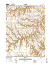 Atwood NE Kansas Current topographic map, 1:24000 scale, 7.5 X 7.5 Minute, Year 2015 from Kansas Maps Store