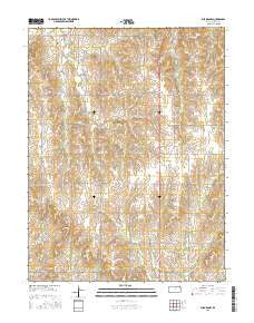 Aurora NW Kansas Current topographic map, 1:24000 scale, 7.5 X 7.5 Minute, Year 2016