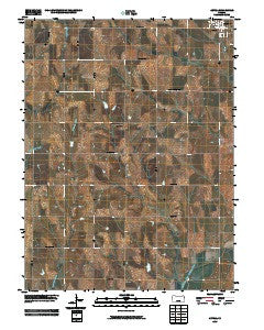 Axtell Kansas Historical topographic map, 1:24000 scale, 7.5 X 7.5 Minute, Year 2009