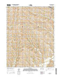 Axtell Kansas Current topographic map, 1:24000 scale, 7.5 X 7.5 Minute, Year 2016