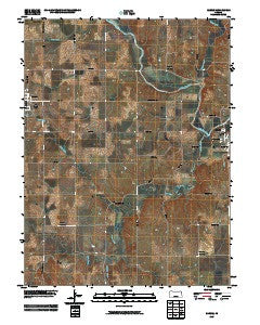 Barnes Kansas Historical topographic map, 1:24000 scale, 7.5 X 7.5 Minute, Year 2009