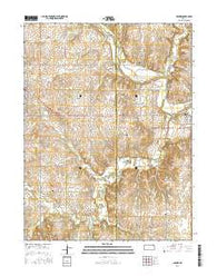 Barnes Kansas Current topographic map, 1:24000 scale, 7.5 X 7.5 Minute, Year 2016