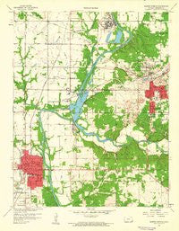 Baxter Springs Kansas Historical topographic map, 1:24000 scale, 7.5 X 7.5 Minute, Year 1959