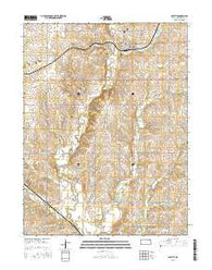 Beattie Kansas Current topographic map, 1:24000 scale, 7.5 X 7.5 Minute, Year 2016