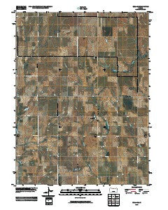 Bellaire Kansas Historical topographic map, 1:24000 scale, 7.5 X 7.5 Minute, Year 2009