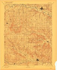 Beloit Kansas Historical topographic map, 1:125000 scale, 30 X 30 Minute, Year 1894