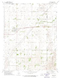 Belpre Kansas Historical topographic map, 1:24000 scale, 7.5 X 7.5 Minute, Year 1972