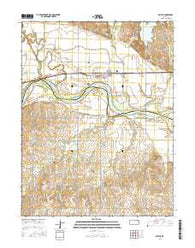 Belvue Kansas Current topographic map, 1:24000 scale, 7.5 X 7.5 Minute, Year 2016
