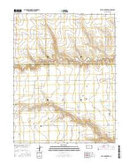 Beulah Cemetery Kansas Current topographic map, 1:24000 scale, 7.5 X 7.5 Minute, Year 2015 from Kansas Map Store