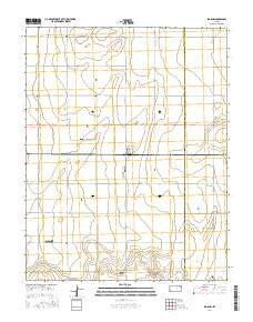 Big Bow Kansas Current topographic map, 1:24000 scale, 7.5 X 7.5 Minute, Year 2016
