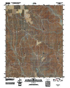 Bloom SE Kansas Historical topographic map, 1:24000 scale, 7.5 X 7.5 Minute, Year 2009
