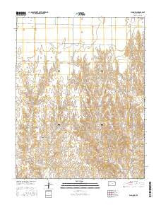 Bloom SW Kansas Current topographic map, 1:24000 scale, 7.5 X 7.5 Minute, Year 2016