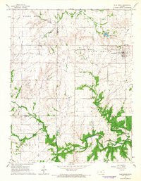 Blue Mound Kansas Historical topographic map, 1:24000 scale, 7.5 X 7.5 Minute, Year 1966