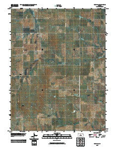 Blue Hill Kansas Historical topographic map, 1:24000 scale, 7.5 X 7.5 Minute, Year 2009