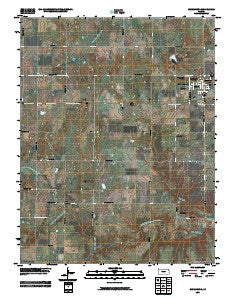 Blue Mound Kansas Historical topographic map, 1:24000 scale, 7.5 X 7.5 Minute, Year 2009