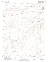 Brewster Kansas Historical topographic map, 1:24000 scale, 7.5 X 7.5 Minute, Year 1966